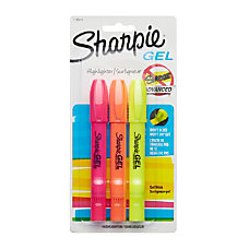 Sharpie Accent Gel Highlighters Assorted Ink