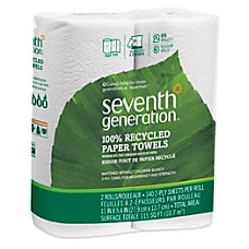 Seventh Generation 100percent Recycled Paper Towels