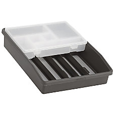 Madesmart Junk Drawer Organizer BlackGray