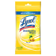 Lysol Disinfecting Wipes Lemon Pack of