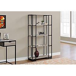 Monarch Specialties Open 4 Shelf Metal
