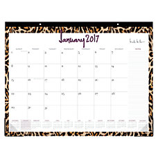 Nicole Miller Monthly Lined Desk Pad