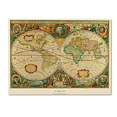 Trademark Global Old World Map Canvas