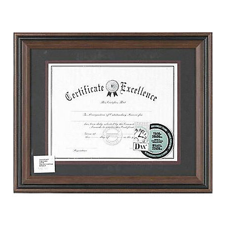 dax rigid plastic document frame 16 x 13 frame size holds 11