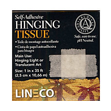 Lineco Self Adhesive Hinging Tissues 1