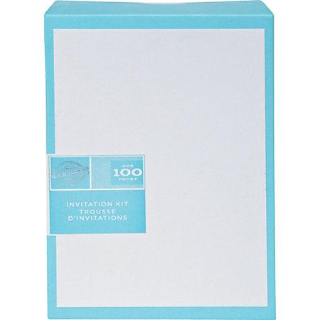 gartner studios invitations 5 12 x 8 12 white pack of 100 by