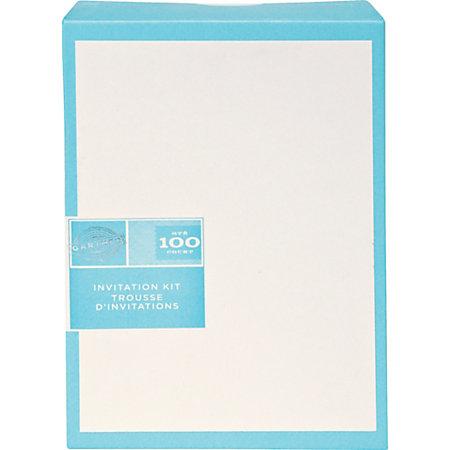 Gartner studios invitations 5 12 x 8 12 ivory pack of 100 for Gartner cards template