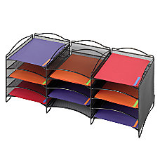 Safco Onyx Mesh 12 Compartment Literature
