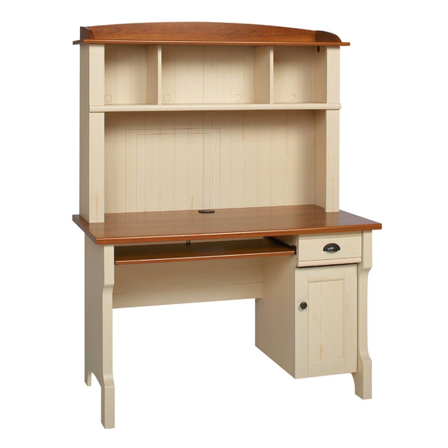Realspace Shore Mini Solutions Computer Desk With Hutch Antique White By Office  Depot U0026 OfficeMax
