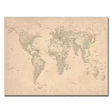 Trademark Global World Map Of Cities