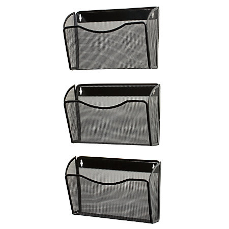 rolodex expressions mesh 3 pack hanging wall files 33 12 black newell office depot