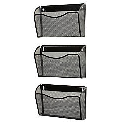 Hanging Wall Files rolodex expressions mesh 3 pack hanging wall files 33 12 h x 14 w
