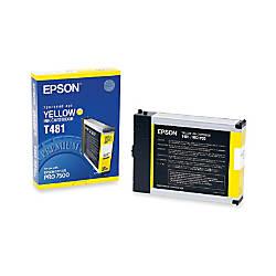 Epson T481 T481011 Yellow Ink Cartridge