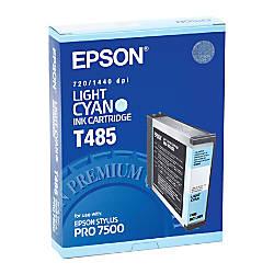 Epson T485 T485011 Light Cyan Ink