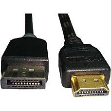Unirise 10ft Displayport Male to HDMI