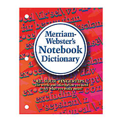 Merriam Websters Notebook Dictionary Pack Of