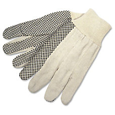 Memphis Dotted Canvas Gloves White Dozen