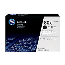 HP 80X Black Original Toner Cartridges