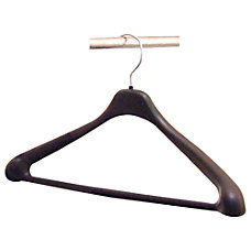 Lorell Suit Hangers 17 Black Pack