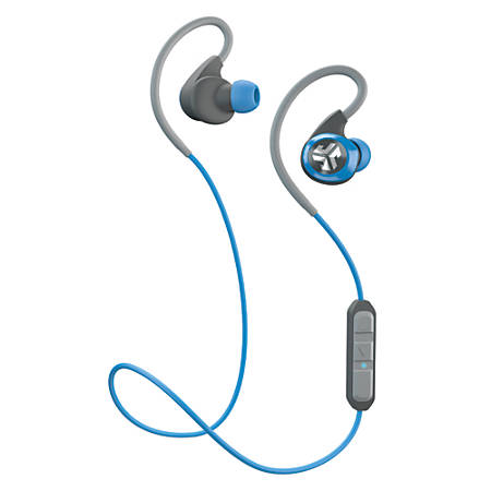 jlab epic bluetooth 4 0 wireless sports earbuds blue by office depot officemax. Black Bedroom Furniture Sets. Home Design Ideas