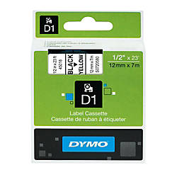 DYMO D1 45018 Black On Yellow