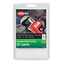 Avery Permanent Durable Multi Surface ID