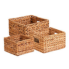 Honey Can Do 3Pk Natural Baskets