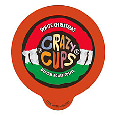 Crazy Cups Coffee Pods White Christmas
