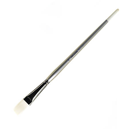 Large Flat Paint Brushes With White Bristles