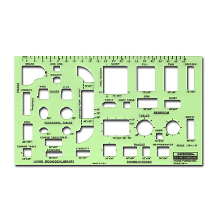 Rapidesign Interior Drafting And Design Templates House Furnishings By Office Depot Officemax