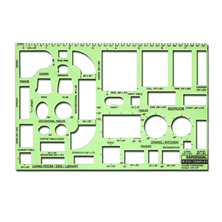 Rapidesign Interior Drafting And Design Templates House Furnishing By Office Depot Officemax