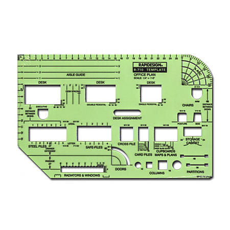 Rapidesign Interior Drafting And Design Templates Office Furniture Equipment Layout By Office