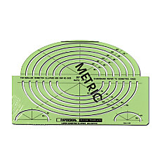 Rapidesign Ellipses Drafting Template Metric Large