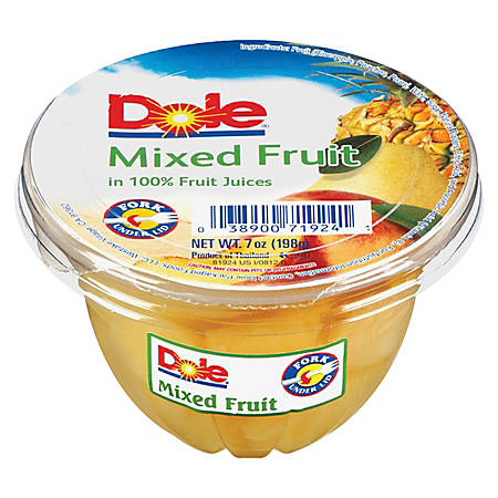 Dole Fruit Cups Mixed Fruit 7 on cup of juice clip art