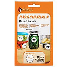 Maco Dissolvable Labels 72 Labels 2