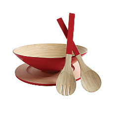 Orbit Bamboo Salad Bowl Set 4