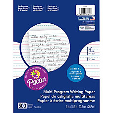 Pacon Multi Program Handwriting Papers Grade