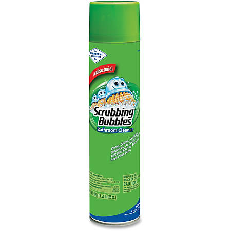 Scrubbing Bubbles Bathroom Cleaner Aerosol Aerosol Gal 25 Fl Oz 12 12 Carton White By