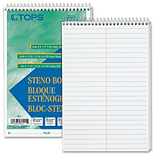 TOPS Steno Book 80 Sheets Printed
