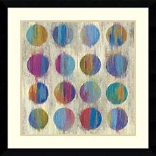Amanti Art Ikat Dots II Framed
