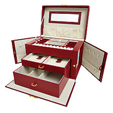 Leatherette Jewelry Box 6 H x