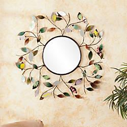 Southern Enterprises Decorative Metallic Round Leaf