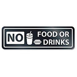 US Stamp Sign No Food Or