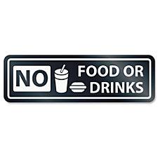 US Stamp Sign No Food Or