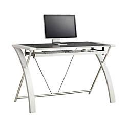 Whalen Furniture Zara Computer Desk White By Office Depot