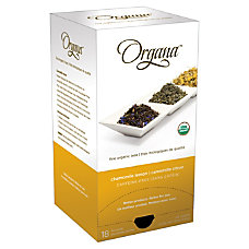 Organa Chamomile Lemon Tea Pods 28