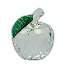 Faceted Crystal Apple Award Clear