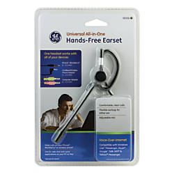 Ge Universal All In One Hands Free Earset With Boom Mic By
