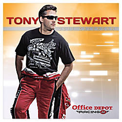 "Office Depot® Brand 30% Recycled Tony Stewart Wall Calendar, 12"" x 12"", January-December 2011"