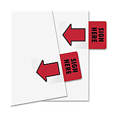 Redi Tag Sign Here Adhesive Page